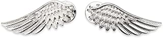 LolliBeads (TM) Vintage Silver Angel Wings Punk Fashion Blouse Shirt Collar Tips Brooches Pins