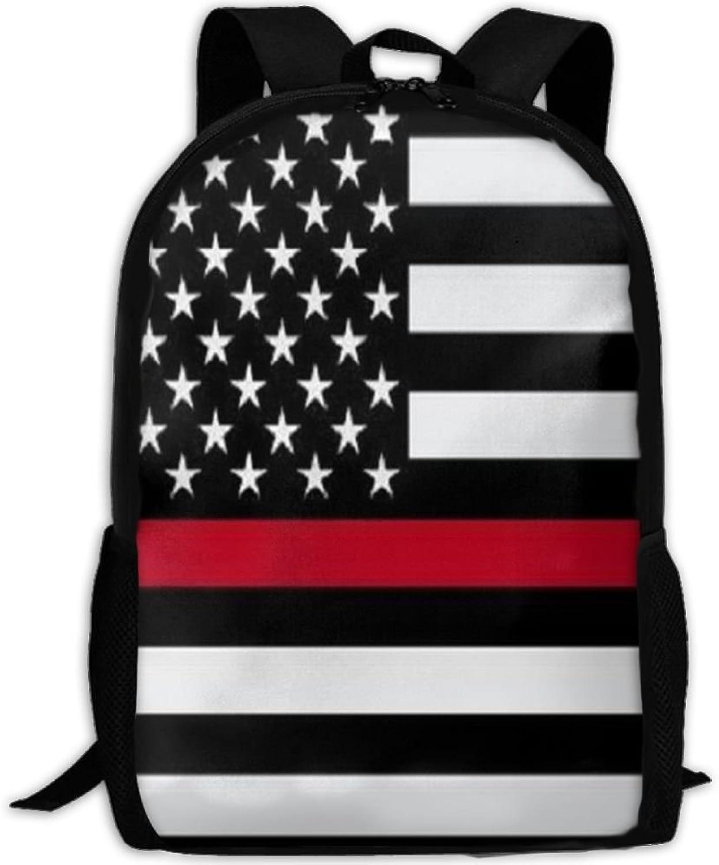 Firefighter rot Line Flag 3D 3D 3D Print Backpack College School Laptop Bag Daypack Travel Shoulder Bag for Unisex B07Q29WHTR  Internationale Wahl 4677b0