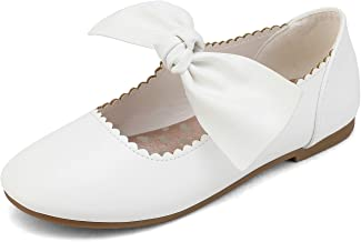 DREAM PAIRS Girls Ballerina Flats Mary Jane Front Bow Dress Shoes