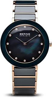 BERING Time 11435-767 Womens Ceramic Collection Watch with Stainless Steel Band and Scratch Resistant Sapphire Crystal. Designed in Denmark.