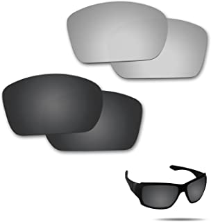 Fiskr Anti-Saltwater Polarized Replacement Lenses for Oakley Big Taco Sunglasses 2 Pair Packed