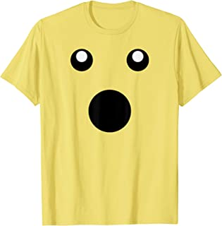 Surprised Open Mouth Face Emojis Emoticon Halloween Costume T-Shirt