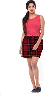 EASY 2 WEAR ® Women Checks Shorts Long and Loose. (Sizes XS to 4XL) Elasticated and Drawstring.