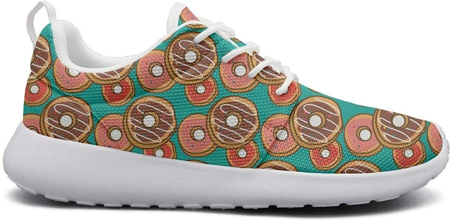 Gjsonmv Donuts Patterns mesh Lightweight shoes for Women Casual Sports Walking Sneakers shoes
