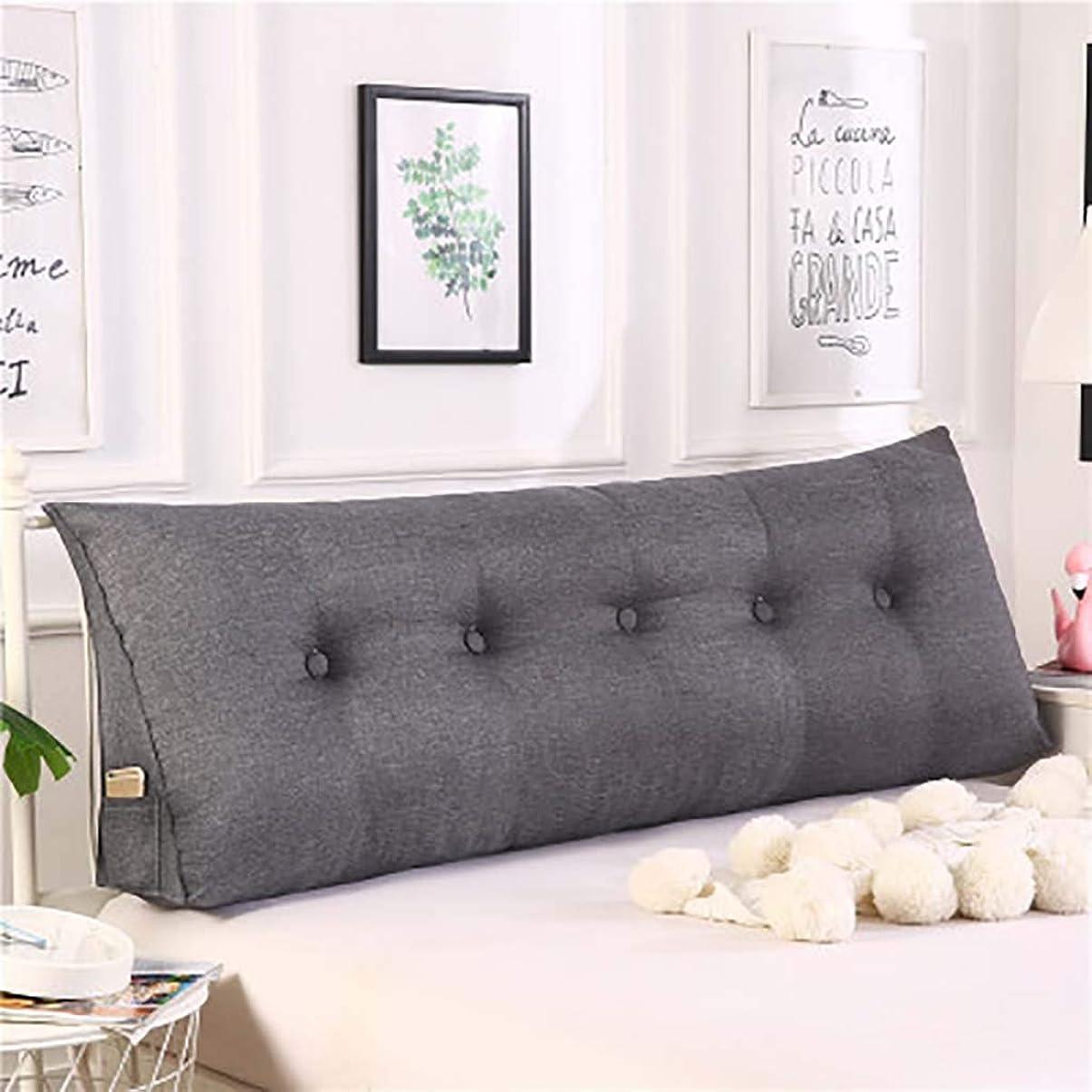 レビューソフィー種をまく三角 ウェッジ枕,ベッド 戻る クッション,3-次元 ベッド 背もたれ 枕 ダブル ヘッドボード クッション 畳 読ん 背もたれ-グレー 180x50x20cm(71x20x8inch)