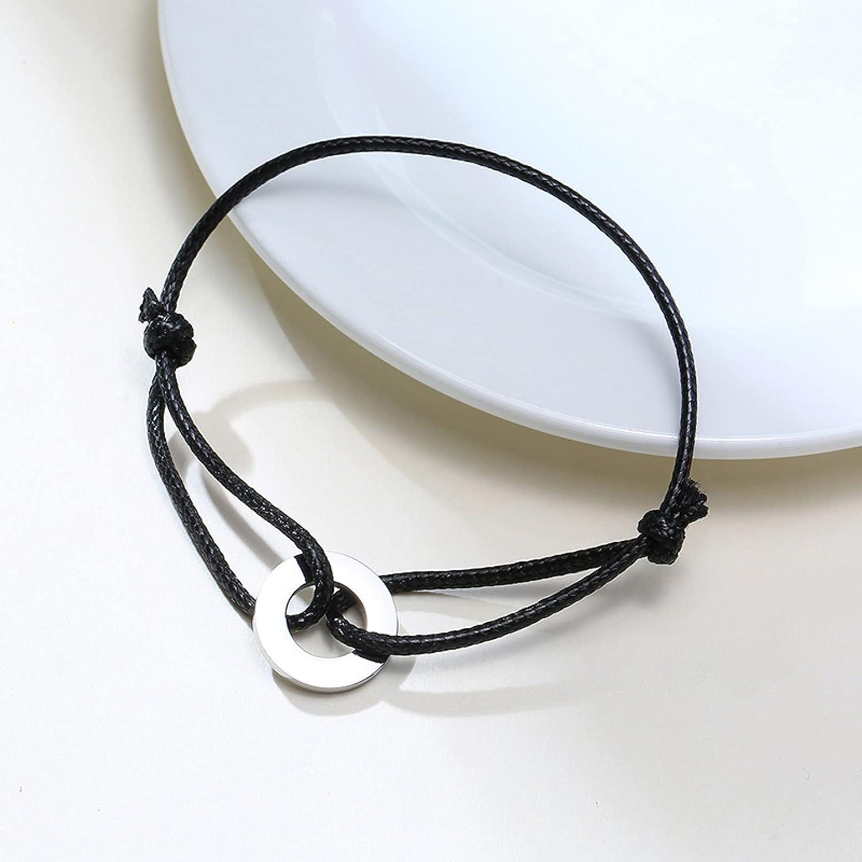 GTHT Men Popular popular Bracelets Circle Round Women Uni Bracelet Charm for Bargain sale