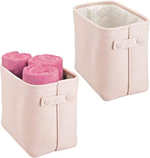mDesign panier rangement tissu avec doublure et design structuré (lot de 2) – rangement maquillage idéal – boite de rangem...