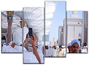 4 Panel Canvas Pictures man picture of the prophet's mosque in medina hajjs and pictures Home Decor Gifts Canvas Wall Art for your Living Room