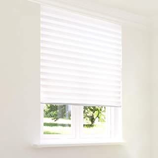 CHICOLOGY Instant Privacy Window Blind Temporary Shade (1-Piece) Refresh White 48 X 72, (48