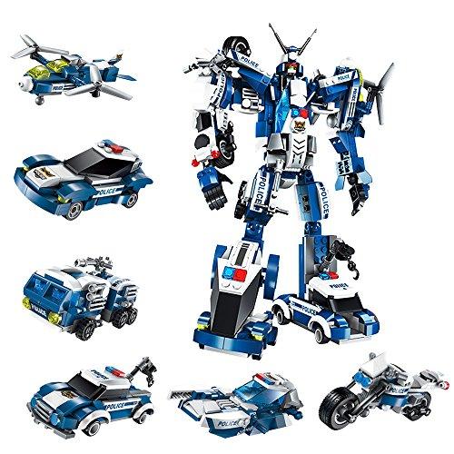 KAGURA 出動! 変形 & 合体 警察ロボット 街を守る ウォーリア