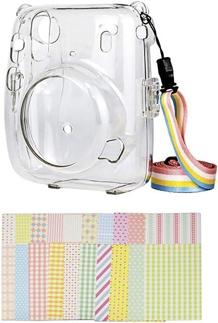 MUZIRI KINOKOO - Funda para cámara Fuji Instax mini 11 transparente FUJI mini 11 con correa ajustable