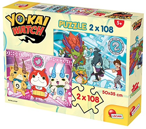 Lisciani Giochi 60689–Puzzle Yokai Watch Yo-Kai Are Real, 2x 108Piezas
