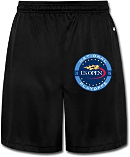 KOKOROITAI Men's Us Open Tennis 2016 Logo Performance Shorts Sweatpants