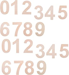 BCP Set of 20 Wood Craft Plywood Wooden Number 0 to 9, 2-7/8inches.