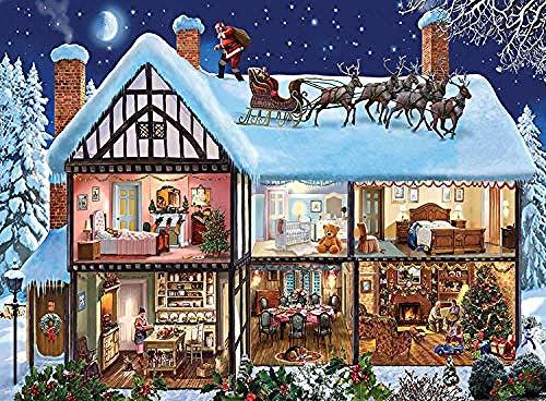 WXLSL Puzzles 1000 Piezas Madera Navidad Nieve Congelada El Puzzles De Madera Papel Ersion Puzzles Adulto Niños Juguetes Educativos