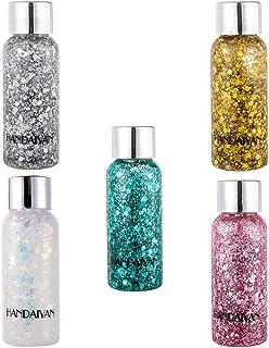 HEALLILY 5Pcs Holografische Cosmetische Festival Glitter Pailletten Shiny Manicure Charms Iriserende Nail Glitter Vlokken ...