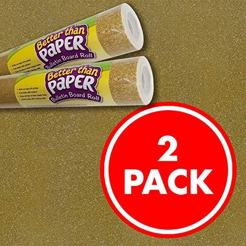 Gold Shimmer Better Than Paper Bulletin Board Roll 2-Pack