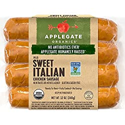 Applegate, Organic Sweet Italian Sausage, 12oz