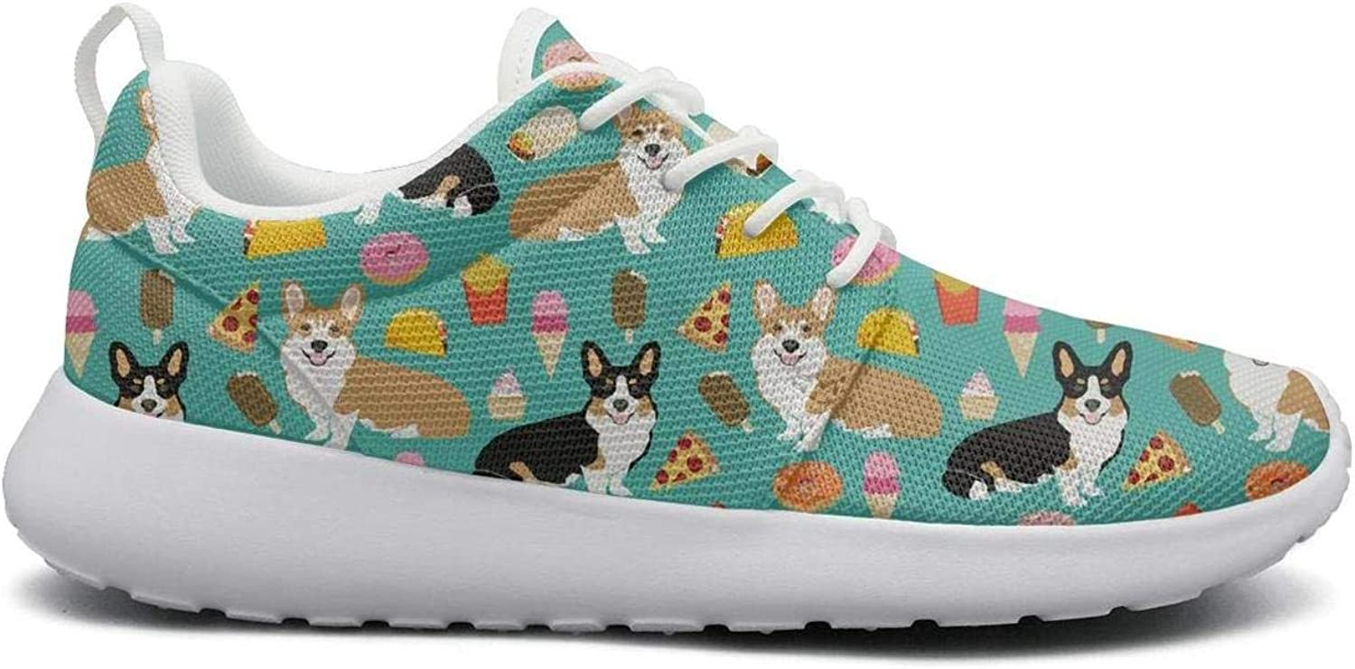 FEWW11 Women Funny Lightweight shoes Sneakers Pet Pug Cute Pizza Cozy Running Lace-Up