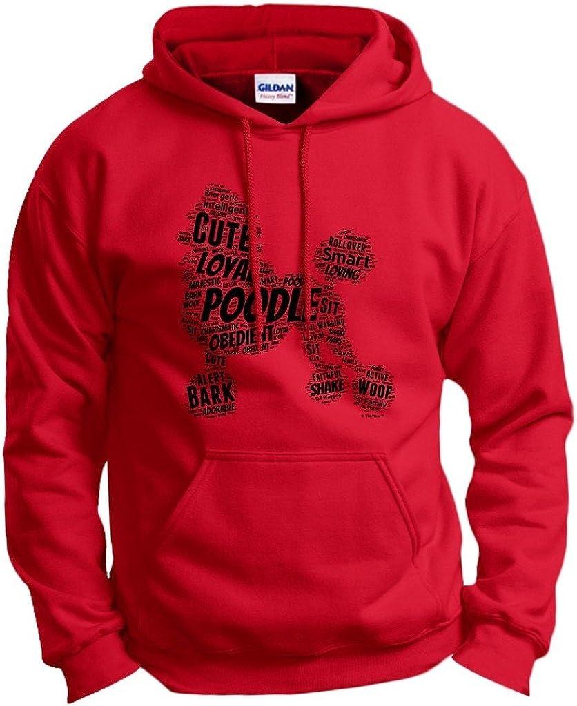人気ブランド多数対象 Poodle Word Art Dog Puppy Hoodie Gift 超目玉 Sweatshirt Owner