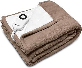 Lukasa Heated Throw Blanket Reversible Sherpa/Fleece Electric Blankets,Machine Washable,ETL Certified,5 Setting Levels 4 H...