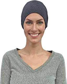 Chemo Hats Women, Cancer Caps, 100% Organic Cotton, Made in Canada, Sleep Headwear