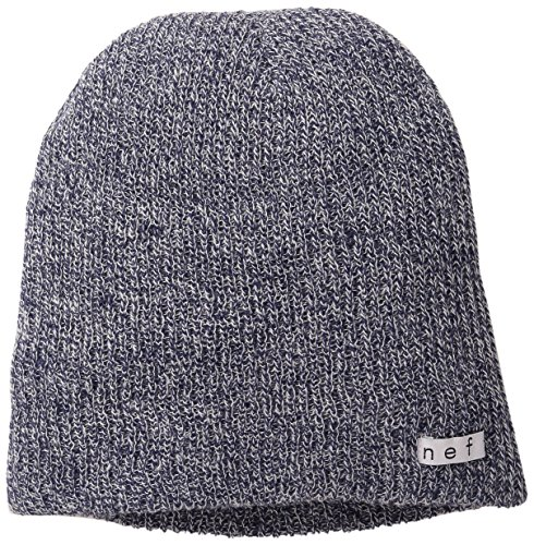 Neff Men's Daily Heather Slouchy Knit Beanie Winter Hats for Men & Women, Navy/White, One Size