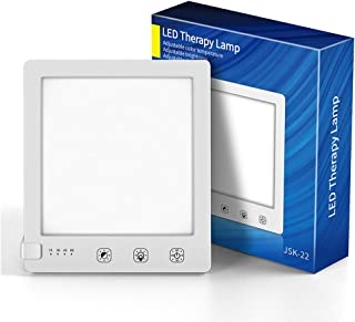 WELTEAYO Lámpara de Luz Diurna 10000 Lux Lámpara Para Terapia, USB Cable con 3 Colores de Luz solar LED, 4 Lámparas con Temporizador con Función de Memoria