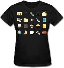 JWZT-KN Women's Tool Icon Pictures Speak Tshirt