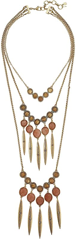 Layer Druzy Statement Necklace