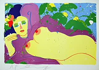 Walasse Ting Grape Flavor Exotic Nude Signed Lithograph