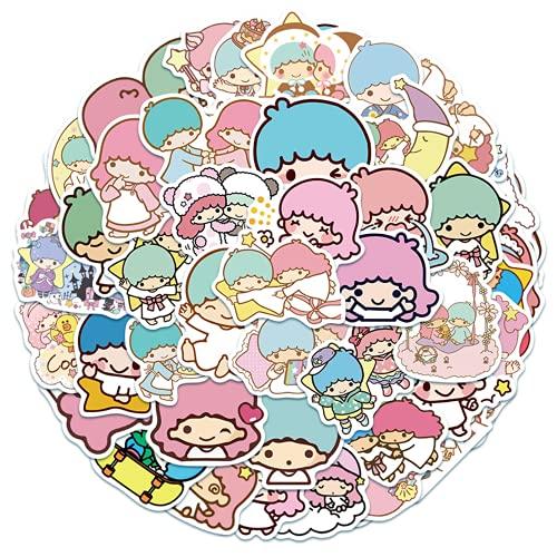 Ligoi 100 PCS Little Géminis Cute Cartoon Graffiti Niños Juguete Maleta Portátil Teléfono Móvil Taza Pegatina Decoración Regalo