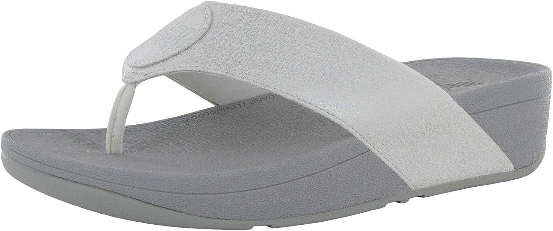 国内正規総代理店アイテム FitFlop Womens Demelza Logo Sandals Thong Toe Shimmer ◆高品質