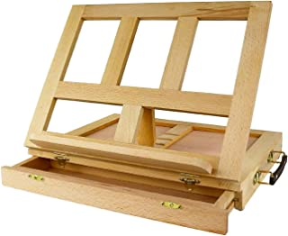 Folding Table Easel Portable Artist Wood Easels Multi-function Sketching Painting Box With Drawer Adjustable