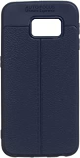 Auto Focus TPU Silicone Back Cover For Samsung Galaxy S6 Edge - Navy
