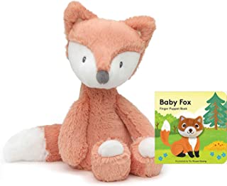 """GUND Baby Toothpick Plush Stuffed Fox, 12"""" Gift Set with Finger Puppet Book"""