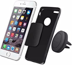 FTXJ Fashion Car Magnetic Air Vent Mount Holder Stand for Mobile Cell Phone/ iPhone/ GPS UF (Black)