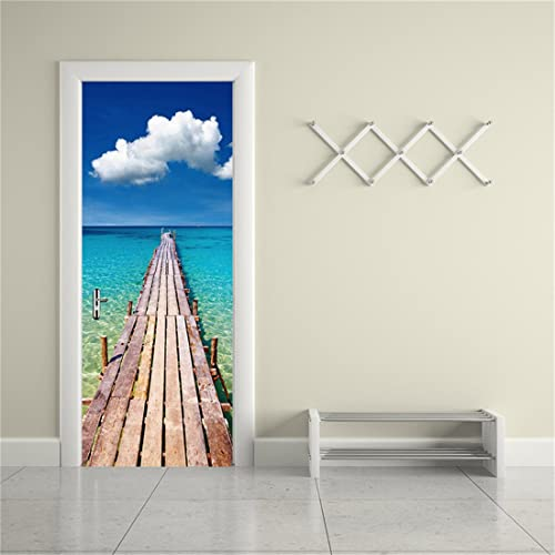 Beau MISSSIXTY 3d Door Wallpaper Murals Wall Stickers   Blue Sky For Home  Decoration Self Adhesive