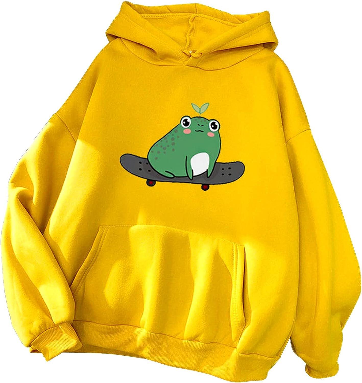 felwors Teen Girls Hoodies Pullover, Women 2021 Jumper Pullover Tops Blouses Heart Pocket Drawstring Hoodie Sweatshirt