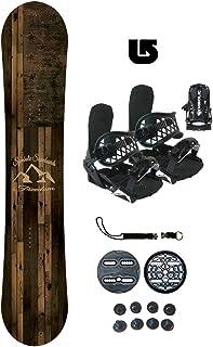 Symbolic Freedom-2 Kids Snowboard & Bindings & Leash & Burton Decal Package