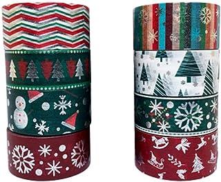 Healifty 8 rollos de cintas de washi navideñas cintas de enmascarar cintas decorativas artesanales para hacer manualidades envolver regalos