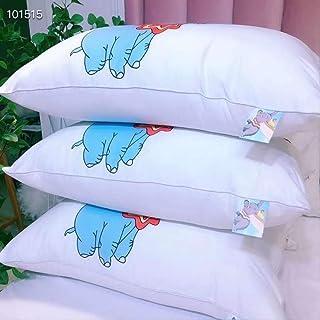 Ropa de Cama de Plumas Lavables de algodón superfino Dumbo Individual Doble Almohada