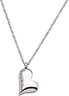 Lillian Rose Forever Heart Memorial Jewelry Necklace, 0.9, Silver