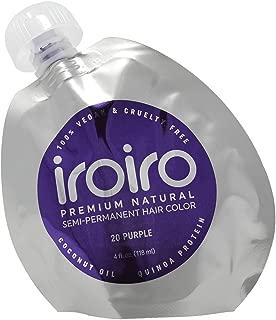 IROIRO Premium Natural Semi-Permanent Hair Color 20 PURPLE (4oz)