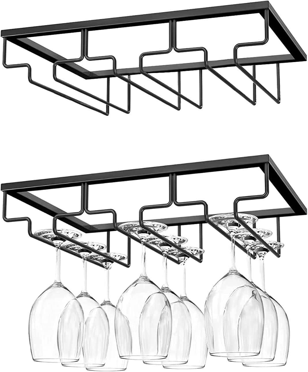 YRHH Wine Glass RackHanging Opening large release Gorgeous sale Shelf Holder Wall Mounted