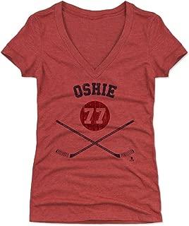 500 LEVEL T.J. Oshie Women's Shirt - Washington Hockey Shirt for Women - T.J. Oshie Sticks