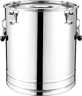 seau à lait en acier inoxydable Bucket de godets à vin en acier inoxydable Bucket Tote Batter avec couvercle scellé Poigné...
