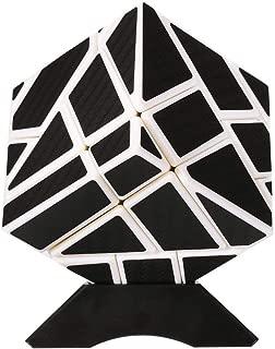 Geefia Speed Cube Soomth Carbon Fiber 3x3 Puzzle Cube White&Black