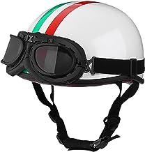 Half Helm Open Gezicht Motorhelm DOT/ECE goedgekeurd halve helm met veiligheidsbril bromfiets scooter Jet-helm Volwassenen...