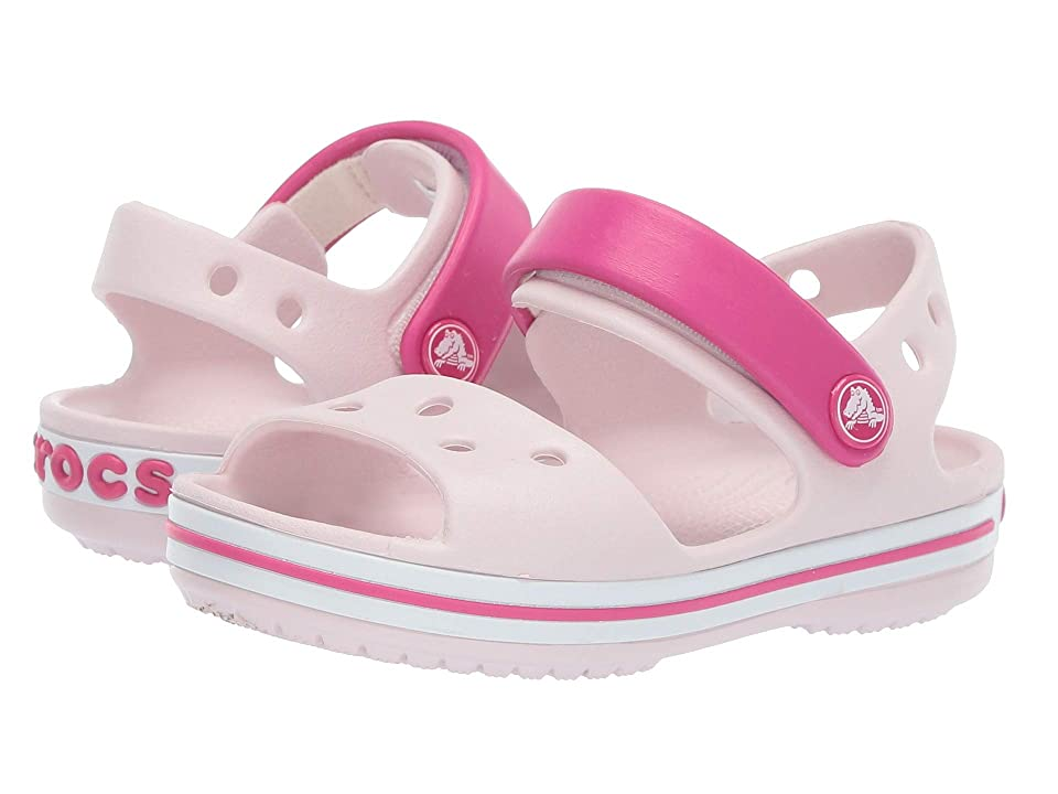 Crocs Kids Crocband Sandal (Toddler/Little Kid) (Barley Pink/Candy Pink) Kids Shoes